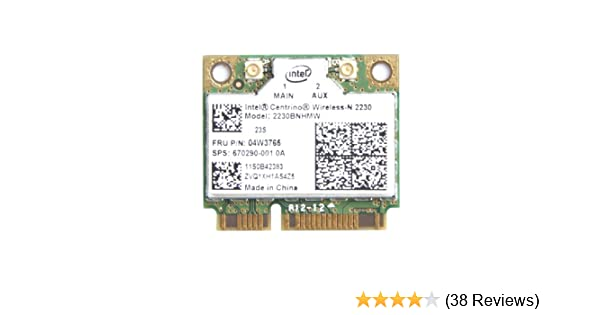Intel Centrino 2230 Mini PCI Express Bluetooth 4.0 2230BNHMW IEEE 802.11n Wi-Fi/Bluetooth Combo Adapter 300 Mbps