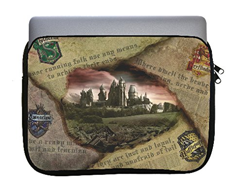 Magic Newspaper Image Neoprene Zippered Laptop Sleeve Bag 11x14 inch for MacBook or Other Laptops (Laptop Sleeve 13 Harry Potter)