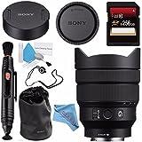 Sony FE 12-24mm f/4 G Lens SEL1224G + 256GB SDXC Card + Lens Pen Cleaner + Fibercloth + Lens Capkeeper + Deluxe Cleaning Kit Bundle