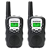 Qilampe Walkie Talkies for Kids, 22 Channel Walkie Talkies 2 Way Radio 2 Miles FRS/GMRS Handheld Mini Walkie Talkies Flashlight for Kids (1 Pair)