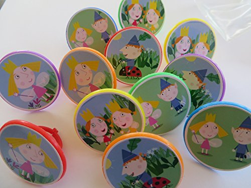 Ben and Holly's Kingdom Cupcake Ring Toppers - SET OF 12 (Holly Cake)