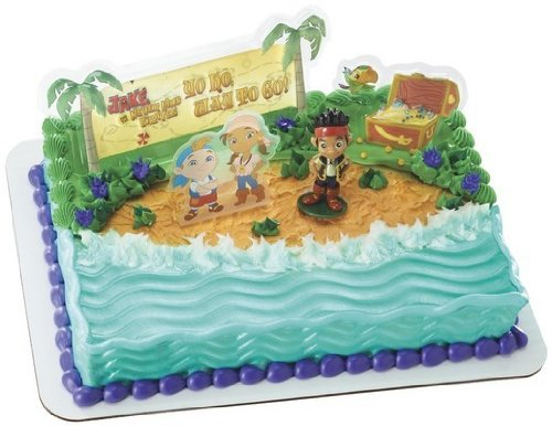 JACK and Neverland PIRATES Cake Party Birthday Supplies Decoration Cupcake Kit -
