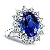 14K Gold Genuine Diamond & Genuine Sapphire Ring - 2.70ctw Deal