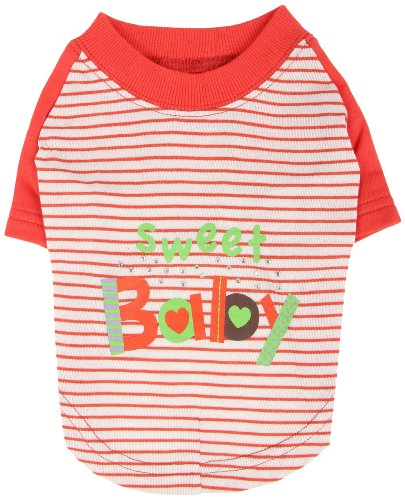 Pinkaholic New York Sweet Baby Shirt for Dogs, Orange, Small, My Pet Supplies