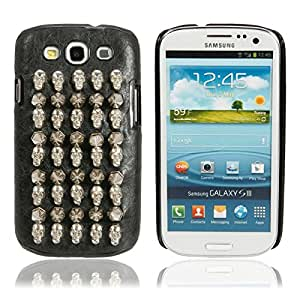 Mzamzi - gran valor metal + plastic protective case with silver bullet pattern skull for samsung s3/i9300