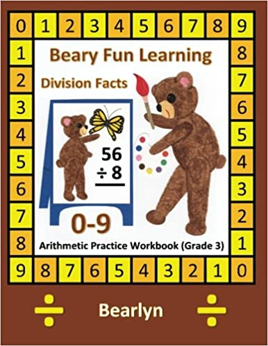 12: Beary Fun Learning Division Facts 0-9 Arithmetic ...