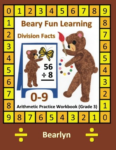 beary-fun-learning-division-facts-0-9-arithmetic-practice-workbook-grade-3-al-bear-einstein-math