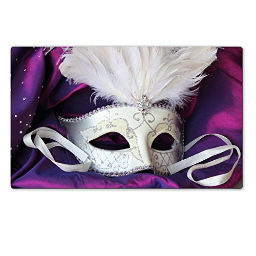 Liili natural rubber Large Table Mat IMAGE ID: 14383992 A mardi gras masquerade ball mask on a dress made from purple (Masquerade Costumes Nz)