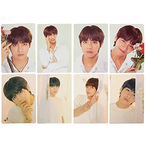 Hosston Kpop BTS Bangtan Boys Postcard, BTS Lomo Cards Photo Set Best Gift for A.R.M.Y(Style 02-V 8 Pcs)
