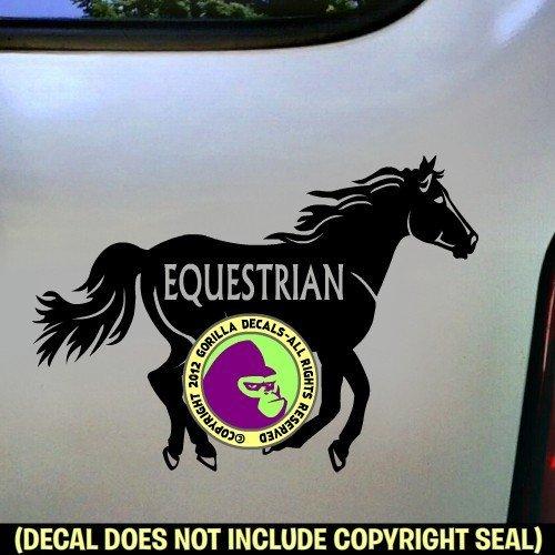 EQUESTRIAN BIG HORSE #2 Running Vinyl Decal Sticker E