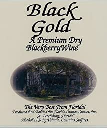 Black Gold - DRY Blackberry Wine