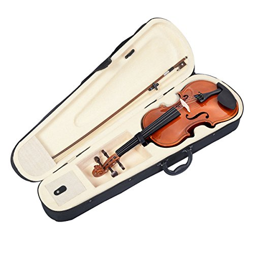 Lightweight Full Size 4/4 Natural Color Acoustic Violin Fiddle w/ Case Bow Soft Case