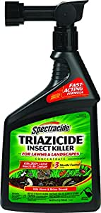 Spectracide Triazicide 32oz Ready-To-Spray Insect Killer for Lawns & Landscapes Concentrate (Pack of 4)