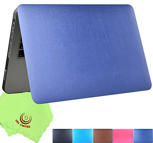 UESWILL Rich Soft-Touch Finish Supple Leather Hard Shell Case Cover for MacBook Pro 15