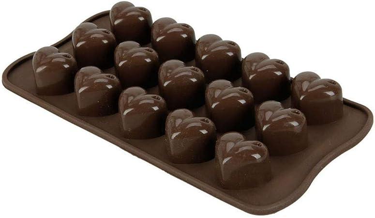 Moldes de chocolate de silicona, pastel de silicona antiadherente ...