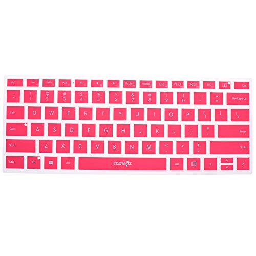 Cosmos Silicone Soft Keyboard Cover Skin Protector for 13.5-inch Microsoft Surface Book, Ultrathin and Ergonomic, Silicone Keyboard Cover (Pink)