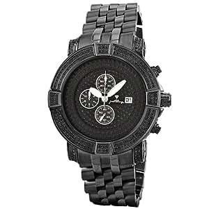 "JBW Men's JB-6115-569-D ""Gotham"" Chronograph 5.70 Carat Black Pave Diamond Watch"