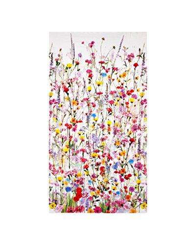 Border Cotton Fabric (Mystic Meadow Digital Print Floral Border Spring Fabric By The Yard)