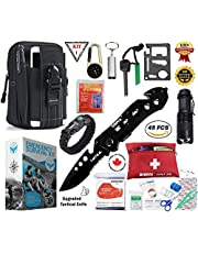 SIGMA GEAR - Emergency Survival Kit & Survival Gear With Tactical Lifesaving Emergency Tools - Emergency Survival Gear kit For Climbing, Hiking, Biking, Driving, Fishing, Boating, Disaster& Wilderness Adventures. Paracord Bracelet, Upgraded Tactical Multitool, Emergency Blanket, Raincoat, SOS