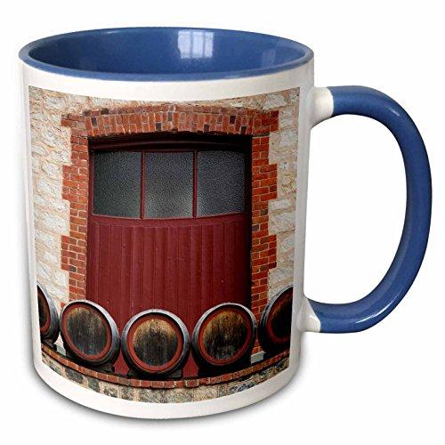 3dRose Danita Delimont - Australia - Australia, Barossa Valley, Angaston, Winery, exterior - 15oz Two-Tone Blue Mug (mug_226314_11)