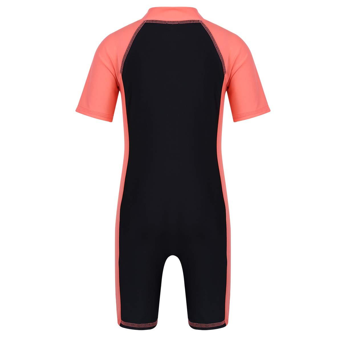 moily Unisex Boys//Girls Zippered Thermal Shorty Wetsuit UV Sun Protection Rash Guard Set Swimwear