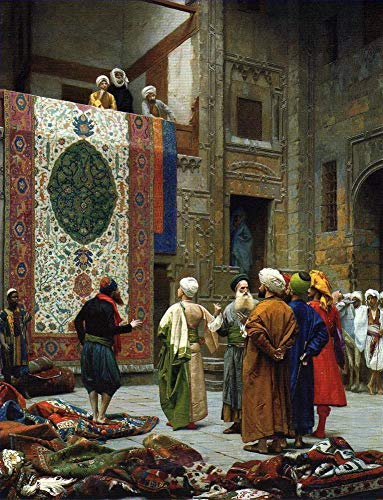 $50-$4000 Hand Painted Art Paintings by College Teachers - The Carpet Merchant Islamic Jean Leon Gerome Oil Painting Reproduction for Wall Decor Canvas Old Famous -Size12