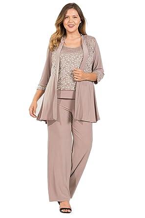 af21fc777da R M Richards Mother of The Bride Plus Size Pant Suit at Amazon Women s  Clothing store