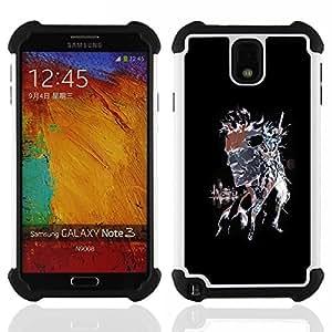- Punk Skull Splash - - Doble capa caja de la armadura Defender FOR Samsung Galaxy Note3 N9000 N9008V N9009 RetroCandy