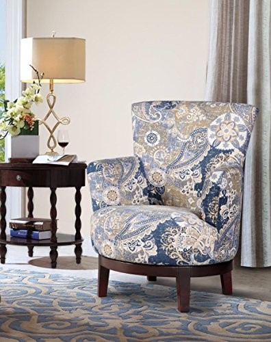 NHI Express Zoey Swivel Flower Accent Chair , Multicolor