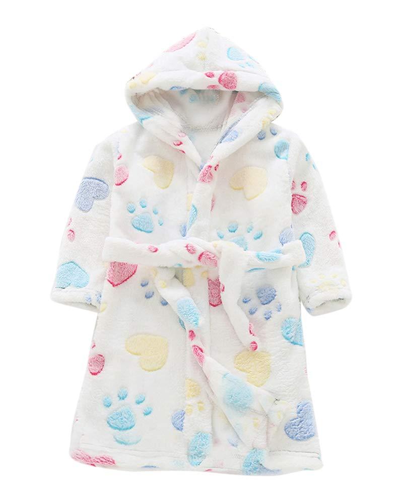 Kinder Bademantel Frottee Lange Ärmel Warm Komfortabel Schlafanzüge Mit Kapuze
