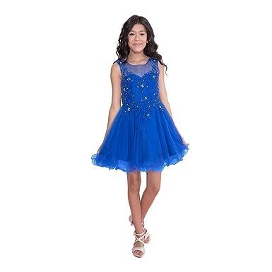 new photos premium selection nice shoes Amazon.com: Calla Collection Big Girls Royal Blue Lace ...