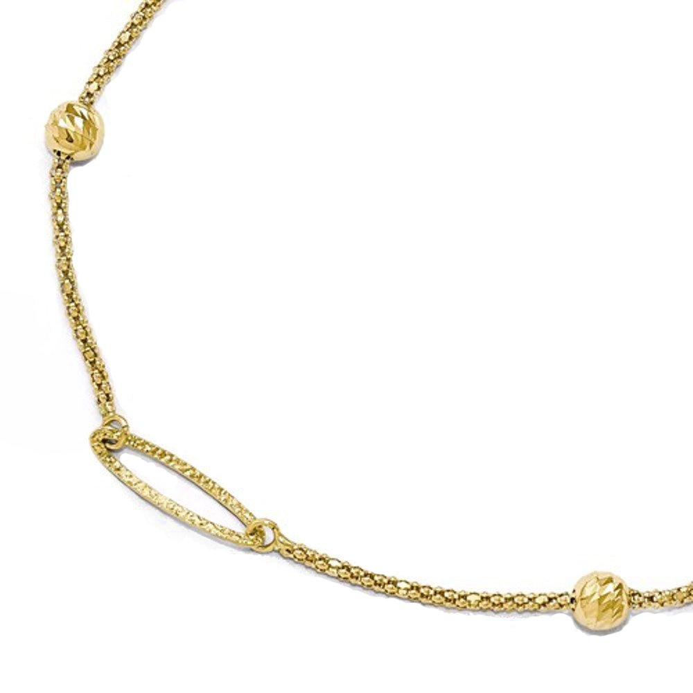 14k Yellow Gold Anklet 10 Inch with Extender