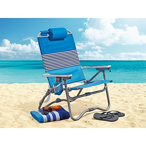 Flipside Folds in Half Twice Bi-fold Perfect for the Beach, Festivals, Picnics, or Poolside, Durable, Sturdy Construction, Beach Chair -