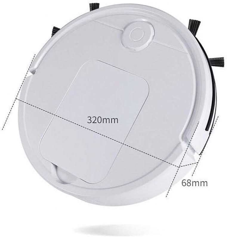 Appuyez Robot de Balayage, Le Balayage de Nettoyage Paresseux, aspirateur Automatique Intelligente AQUILA1125 (Color : White) White