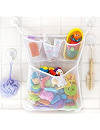 """The Original Tub Cubby - Baby Bath Toy Organizer - Large 14x20"""" Quick Dry Mesh Net - Massive Storage Bin + 3 Soap Pockets - 100% Guaranteed for Life BOBEBE Online Baby Store From New York to Miami and Los Angeles"""