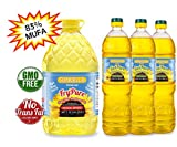 SUNVELLA High Oleic Sunflower Oil Variety Combo (1) FryPure 1.32 GAL + (3) SunPure 33.8 Fl Oz), 100% Pure, 83% MUFA, Non-GMO (Total 4 bottles)
