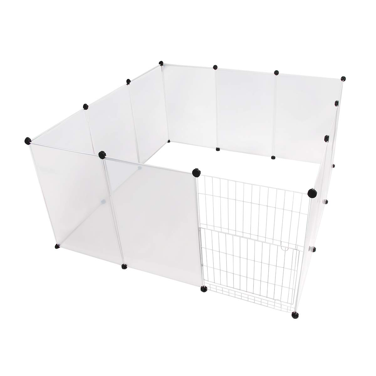 28\ LANGXUN Dog Playpen 12 Panels Indoor Outdoor Predable Puppy Exercise Pen Dog, Large Plastic Yard Fence for Small Animals, Pet Playpens for Dogs, Kitten, Rabbit, Guinea Pig, Ferret