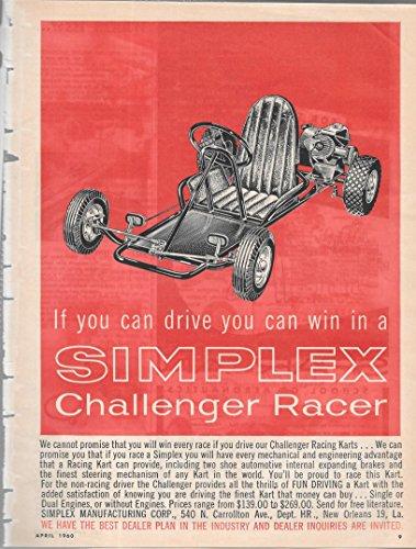 Simplex Print (Simplex Challenger Racer Race Kart Print Ad)