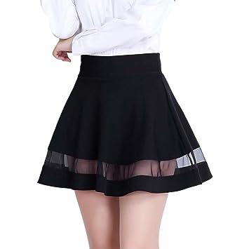 SaiDeng Elegante Vestidos Mujer Faldas Plisada De Hilo Falda Negro ...