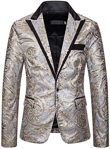 [MANMASTER(マンマスター)]テーラードジャケット ブレザー スパンコール 一つボタン ステージ衣装 メンズ CXH293