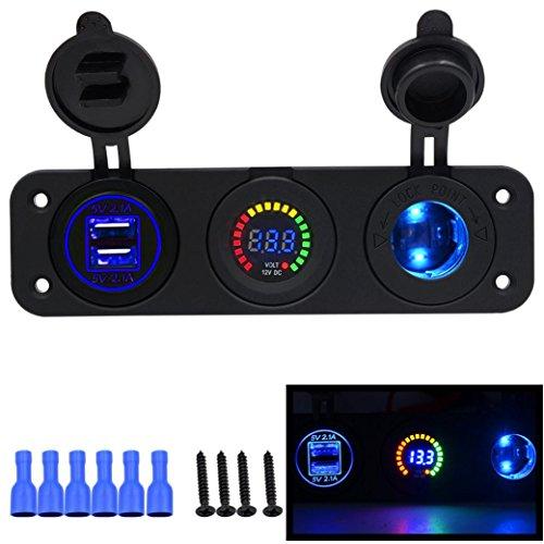 switch-panelhmlai-car-motorcycle-cigarette-lighter-socket-led-digital-display-voltmeter-usb-usb-char