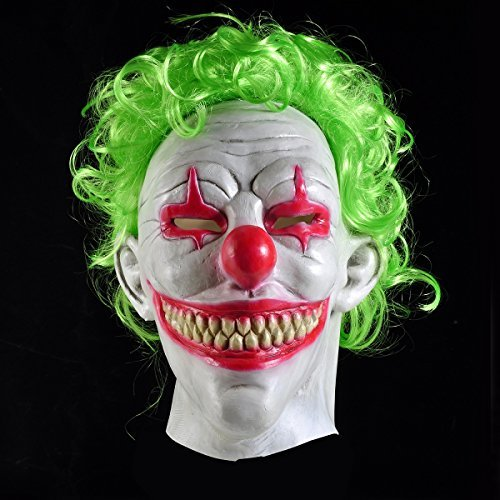 Joker Mask, Halloween Latex Clown Mask for Adults, Halloween Mask Joker Costume Party Props, Cosplay Creepy Party (Creepy Smile Mask)