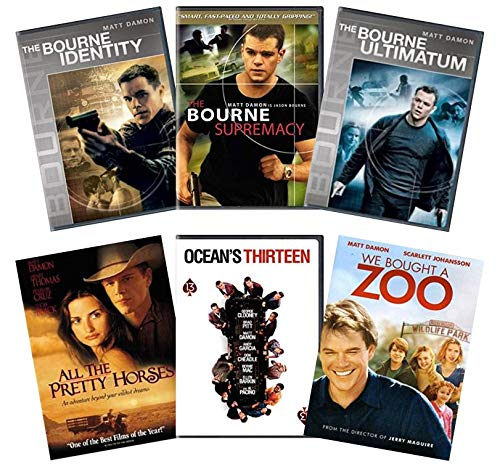 Ultimate Matt Damon 6-Movie DVD Collection: The Bourne Identity / Bourne Supremacy / Bourne Ultimatum / All the Pretty Horses / Ocean's Thirteen / We Bought a Zoo