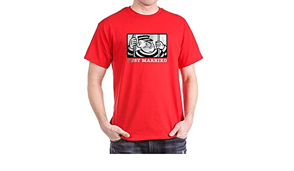 Amazon.com  CafePress Just Married 100% Cotton T-Shirt Red  Clothing f342c2cac05c