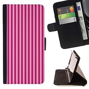Momo Phone Case / Flip Funda de Cuero Case Cover - Patrón de rayas púrpuras Líneas Moda - LG G3