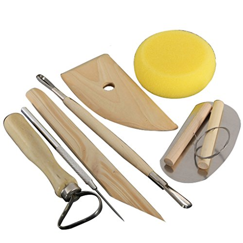 Decor Decorative Crafts 8Pcs Wood Metal Pottery Clay Ceramics Molding Carving Sculpting Tools