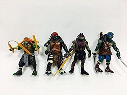 Amazon.com: 4PCS Teenage Mutant Ninja Turtles New Action ...