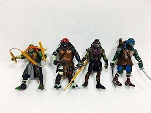 4PCS Teenage Mutant Ninja Turtles New Action Figures Christmas Gift Toys Movie