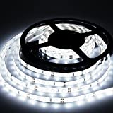LED Strip Lights Cool White 6000K Led Light Strips DC12V Strip of Led Lights SMD2835 300Leds Led Tape Lights Strip Led 16.4 Ft Flexible light strips DIY Decoration Outdoor