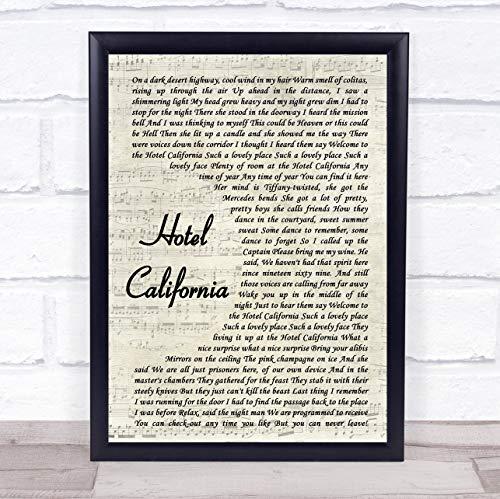 hotel california eagles poster - 7